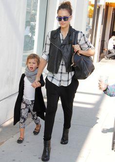 Jessica Alba & Daughter