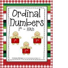 ordinal numbers-free