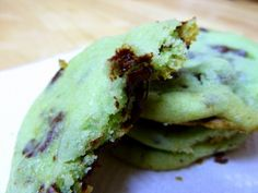 Mint Chocolate Chunk Cookies for St. Patrick's Day!