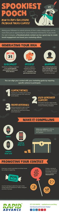 How to Run a Successful #Facebook Photo Contest - #infographic #socialMedia