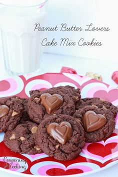 Peanut Butter Lovers Cake Mix Cookies {couponingncooking.com}