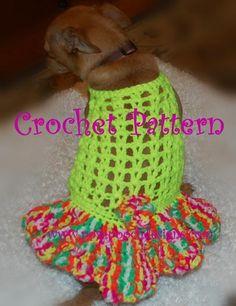 Halter Dog Dress with Flirty Skirt