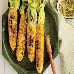 Grilled Corn on the Cob with Roasted Jalapeño Butter | MyRecipes.com #vegetable #myplate