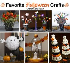 Fun and non-scary Halloween favorites for kids and adults! Tutorial on CraftsnCoffee.com
