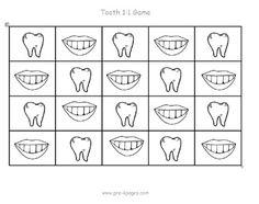 free dental health math game via www.pre-kpages.com
