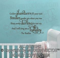 The Beatles Quote Vinyl Wall Decal Lettering by ModernVector, $19.80