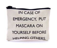 mascara, safety tips, contemporary art, makeup bags, bridal shower gifts, accessories, safety first, quot, brandy