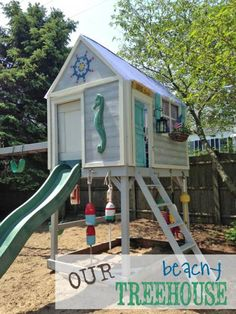 Build your own playhouse. Free plans at  Ana-White.com