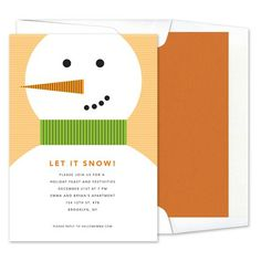 Snowman Invitations - Real Simple (finestationery.com)