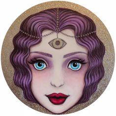 All Seeing Goddess  by YELLEY  13x13 Digital Print by YelleyArt, $35.00
