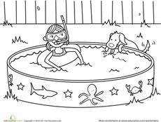 Summer Coloring Page Worksheet