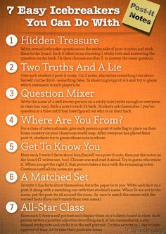 7 Easy Icebreakers