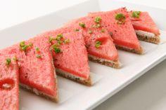 Open Face Watermelon Sandwiches