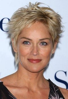 Short Hair Styles For Women Over 50 | Sharon Stone Short Hairstyles for Mature Women | Hairstyles Weekly