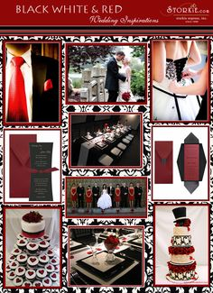 Vintage Hollywood Wedding - Red, Black, and White I love this