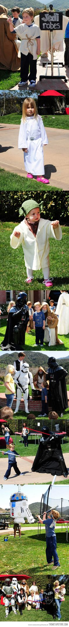 Amazing Star Wars themed birthday party…Helen Yourkawitch, for the boys next party!