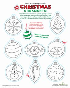 Education.com - Free Printable Worksheets by age level. Lots of great preschool Christmas printables! holiday, printabl christma, worksheets, preschool christma, christmas printables, christma ornament, christmas ornaments, christma printabl, kid