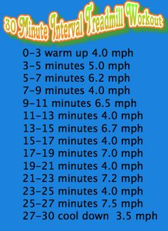 30 minute treadmill interval workout