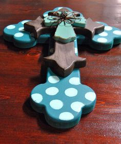Decorated Layered Wooden Cross // Pretty by FicklePickleDesigns, $23.95