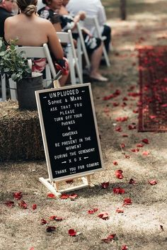 unplugged wedding ceremony sign ideas