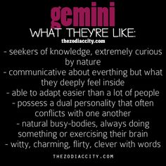 Zodiac Gemini: What Theyre Like