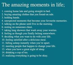 Amazing Moments in Our Lives.