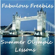 Fabulous Friday Freebies: Tons of Summer Olympic Educational Freebies by One Less Headache