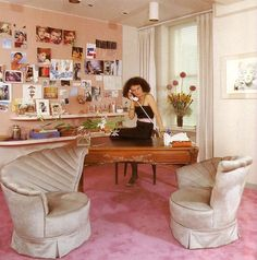 DVF's office from th