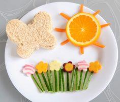 Cute Foods for Kids, sandwich con fruta y verduras para dar la merienda a los niños de la casa de forma divertida