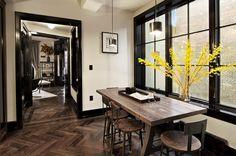 lovely dark trim and floors