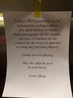 Hold the wifi hostage! Great parent hack! love it