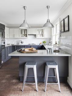 butcher blocks, cabinet colors, kitchen photos, stool, grey kitchens, subway tiles, light, marbl, white kitchens