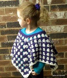 Pretty Purple Poncho | AllFreeCrochet.com