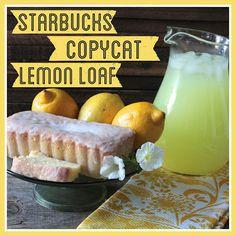 Copycat Starbucks Lemon Pound Cake courtesy of Bright Green Door