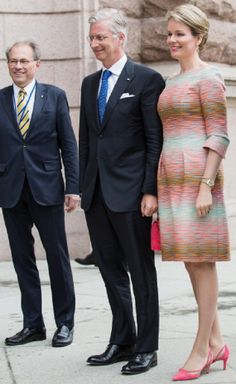 (C) King Philippe and Queen Mathilde of Belgium visit the swedish Riksdag on 29.04. 2014 in Stockholm, Sweden.