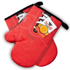 Bring out the boxing gloves as to who is the better cook with these oven mitts!