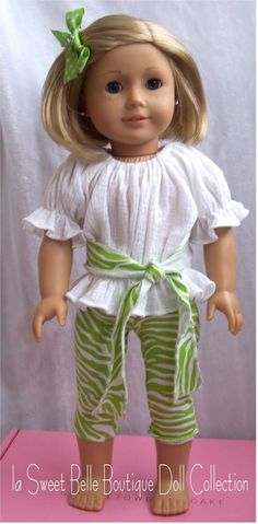 18 inch doll outfit - with sash belt