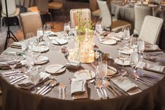 Our linens and silverware