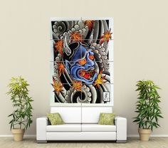 JAPANESE DEMON TATTOO GIANT WALL POSTER PRINT ART ST496