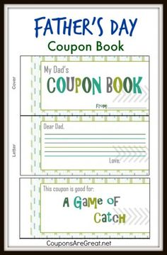 This Father's Day Coupon Book is a great (inexpensive) gift for dad this year!