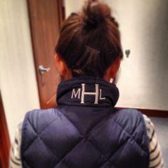 monogramed vest