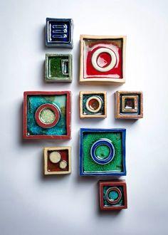 Wall Blocks By reiko Cunningham Www.facebook.com/helloimreiko  #ceramic #pottery