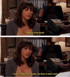 #parks and rec #jogging is for quitters #Ann is right