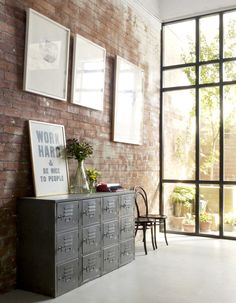 interior, studios, locker decorations, studio sisu, design studio, windows, bricks, exposed brick, lockers