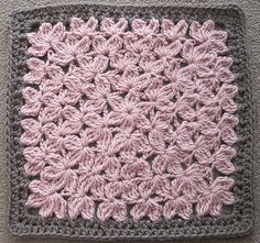 treble crochet square (looks like a bed of flowers!)- free ravelry download for October 2012 only!!!