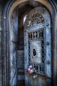 Incredible blue door