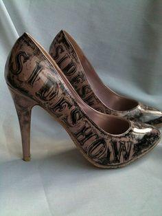 Sideshow Freak Shoes Uk 6USA 85 EU 39 by MissFiendishApparel, £45.00