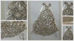 Paper Quilled Creme de la Creme Wedding Gown