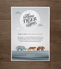 Rhino Tiger Bear by Jimmy Gleeson, via Behance