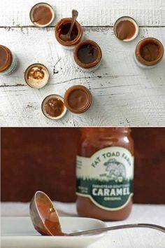 4 Gourmet Caramel Assortment // Cinnamon Caramel, Vanilla Bean, Original and Salted Bourbon